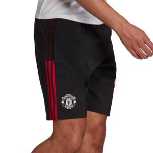 Short adidas United Downtime - Pantalón corto de paseo adidas del Manchester United - negro