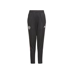 Pantalón adidas United niño entrenamiento - Pantalón largo de entrenamiento infantil adidas del Manchester United - negro