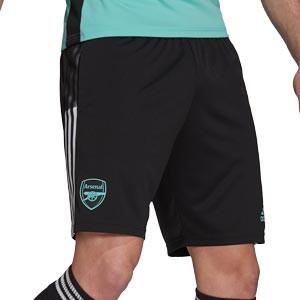 Short adidas Arsenal entreno 2021 2022 - Pantalón corto entrenamiento adidas del Arsenal FC 2021 2022 - negro - frontal