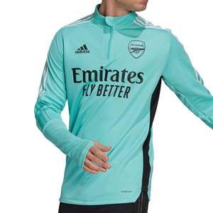 Sudadera adidas Arsenal entreno 2021 2022 - Sudadera de entrenamiento adidas del Arsenal FC 2021 2022 - verde menta - frontal