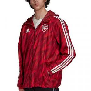 Cortavientos adidas Arsenal Windbreaker - Chaqueta cortavientos adidas del Arsenal FC - granate