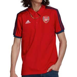 Polo adidas Arsenal 3 Stripes - Polo adidas del Arsenal FC - rojo