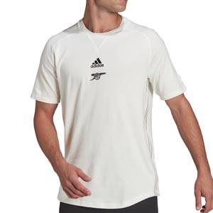Camiseta algodón adidas Arsenal Travel - Camiseta de algodón adidas del Arsenal FC - blanco hueso