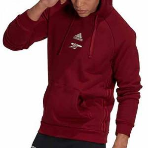 Sudadera adidas Arsenal Travel Hoodie - Sudadera con capucha de algodón adidas del Arsenal FC - granate