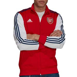 Chaqueta de adidas Arsenal 3 Stripes - Chaqueta de chándal adidas del Arsenal FC - roja