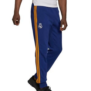 Pantalón adidas Real Madrid 3 Stripes - Pantalón largo de algodón adidas del Real Madrid - azul marino