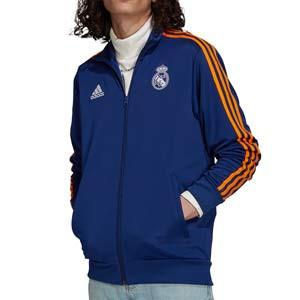 Chaqueta adidas Real Madrid 3 Stripes - Chaqueta de chándal adidas del Real Madrid CF - azul