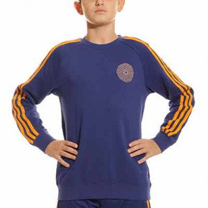 Sudadera adidas Real Madrid niño - Sudadera de algodón infantil adidas del Real Madrid CF - azul