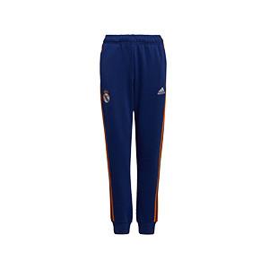 Pantalón adidas Real Madrid niño - Pantalón largo de algodón infantil adidas del Real Madrid - azul marino