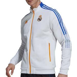 Chaqueta adidas Real Madrid himno - Chaqueta chándal himno adidas Real Madrid CF - blanca