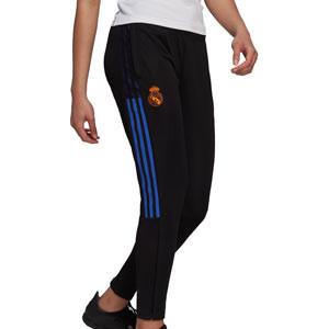 Pantalón adidas Real Madrid entrenamiento mujer - Pantalón largo de mujer entrenamiento adidas del Real Madrid CF - negro - completa frontal