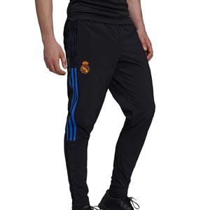 Pantalón adidas Real Madrid Presentación - Pantalón largo de chándal adidas del Real Madrid CF - negro - completa frontal