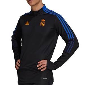 Sudadera adidas Real Madrid entrenamiento - Sudadera de entrenamiento adidas del Real Madrid CF - negra - completa frontal