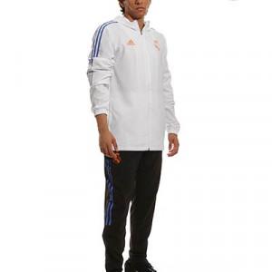 Chándal adidas Real Madrid Presentación - Chándal de paseo adidas técnicos del Real Madrid - blanco, negro