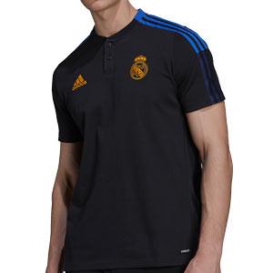 Polo adidas Real Madrid entrenamiento - Polo entrenamiento adidas Real Madrid CF - negro - frontal