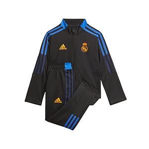 Chándal adidas Real Madrid niño pequeño entrenamiento - Chándal infantil 1-6 años entrenamiento adidas del Real Madrid CF - negro - completa frontal
