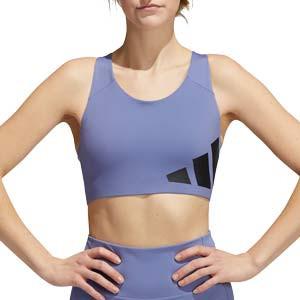 Sujetador deportivo adidas AlpshaSkin - Sujetador deportivo de alto impacto con relleno adidas de mujer para fútbol - lila