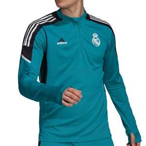 Sudadera adidas Real Madrid entrenamiento UCL - Sudadera de entrenamiento de la Champions League adidas del Real Madrid - verde turquesa