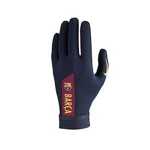 Guantes térmicos Nike Barcelona Hyperwarm Academy - Guantes térmicos de jugador para el invierno del FC Barcelona Nike - azul marino - frontal