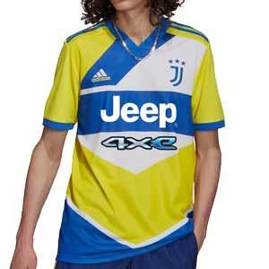 Camiseta adidas Juventus 3a 2021 2022 - Camiseta tercera equipación adidas de la Juventus 2021 2022 - amarilla, azul