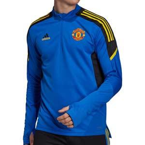 Sudadera adidas United entrenamiento UCL - Sudadera de entrenamiento de la Champions League adidas del Manchester United - azul