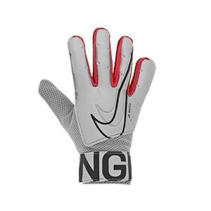 Nike GK Match Jr - Guantes de portero infantiles Nike corte flat - grises - derecho