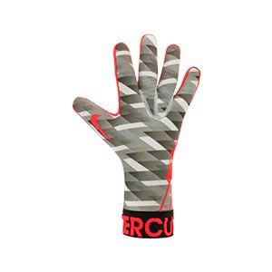 Nike GK Mercurial Touch Victory - Guantes de portero Nike corte negativo - grises y rosas - derecho