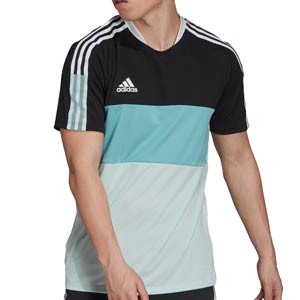 Camiseta adidas Tiro Blocking - Camiseta de manga corta de fútbol adidas - negra, verde menta