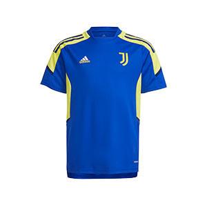 Camiseta adidas Juventus niño entrenamiento UCL - Camiseta de entrenamiento infantil de la Champions League adidas de la Juventus - azul