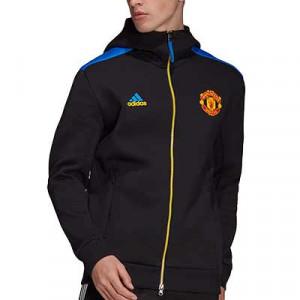 Chaqueta adidas United ZNE himno - Chaqueta con capucha himno adidas del Manchester United - negra