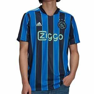 Camiseta adidas 2a Ajax 2021 2022 - Camiseta segunda equipación adidas Ajax 2021 2022 - azul y negra - frontal