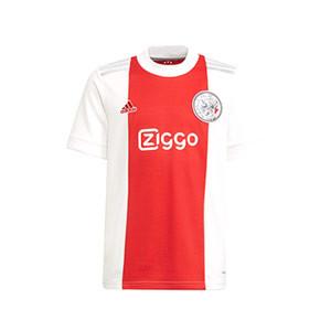 Camiseta adidas Ajax niño 2021 2022 - Camiseta infantil primera equipación adidas del Ajax de Ámsterdam 2021 2022 - roja y blanca