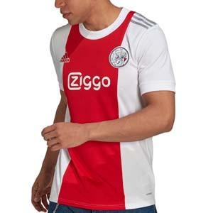 Camiseta adidas Ajax 2021 2022 - Camiseta primera equipación adidas del Ajax de Ámsterdam 2021 2022 - roja y blanca - completa frontal