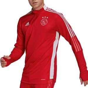 Sudadera adidas Ajax entrenamiento - Sudadera de entrenamiento adidas del Ajax - roja - frontal