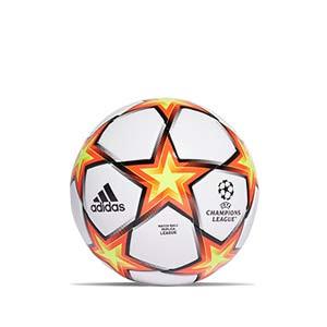 Balón adidas Finale 21 League talla 4 - Balón de fútbol adidas de la Final de la Champions 2020 2021 talla 4 - blanco y naranja