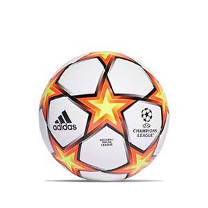Balón adidas Finale 21 League talla 5 - Balón de fútbol adidas de la Final de la Champions 2021 2022 talla 5 - blanco y naranja