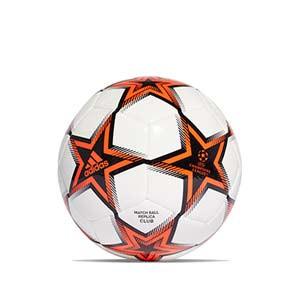 Balón adidas Finale 21 Club talla 5 - Balón de fútbol adidas de la Final de la Champions 2021 2022 talla 5 - blanco y naranja