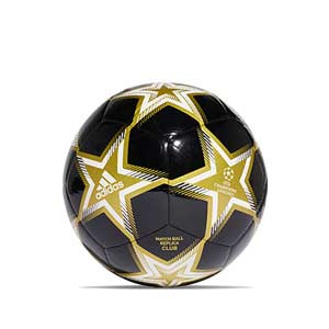 Balón adidas Finale 21 Club talla 5 - Balón de fútbol adidas de la Final de la Champions 2021 2022 talla 5 - negro, dorado