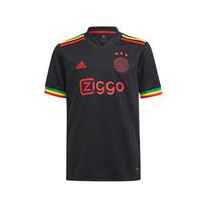 Camiseta adidas 3a Ajax niño 2021 2022 - Camiseta infantil de la tercera equipación adidas del Ajax 2021 2022 - negra