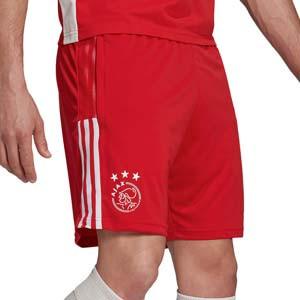 Short adidas Ajax entrenamiento - Pantalón corto entrenamiento adidas Ajax - rojo - frontal