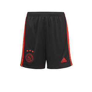 Short adidas 3a Ajax niño 2021 2022 - Pantalón corto infantil de la tercera equipación adidas del Ajax 2021 2022 - negro