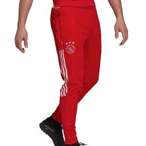 Pantalón adidas Ajax entrenamiento - Pantalón largo de entrenamiento adidas del Ajax - rojo - frontal