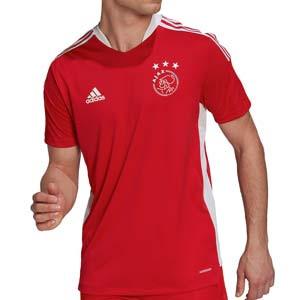 Camiseta adidas Ajax entrenamiento - Camiseta manga corta entrenamiento adidas Ajax - roja - frontal