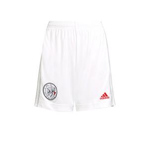 Short adidas Ajax niño 2021 2022 - Pantalón corto infantil primera equipación adidas Ajax Ámsterdam 2021 2022 - blanco