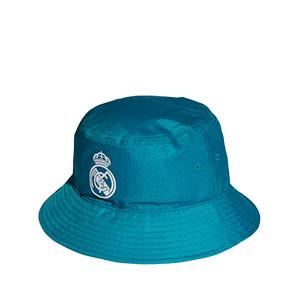 Gorro adidas Real Madrid - Sombrero de pescador adidas Real Madrid - verde turquesa