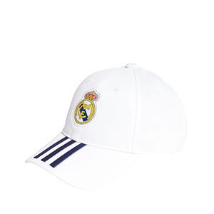 Gorra adidas Real Madrid niño - Gorra infantil adidas del Real Madrid CF - blanca - completa frontal