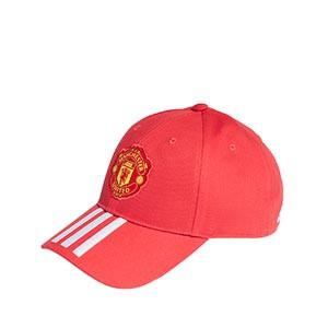 Gorra adidas United Baseball niño - Gorra infantil adidas del Manchester United - roja