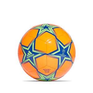 Balón adidas Finale 21 Club talla 5 - Balón de fútbol adidas de la Final de la Champions 2021 2022 talla 5 - naranja y verde