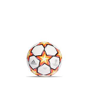 Balón adidas Finale 21 UCL talla mini - Balón de fútbol adidas de la Final de la Champions 2021 2022 talla mini - blanco y naranja