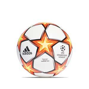 Balón adidas Finale 21 League J350 talla 5 - Balón de fútbol de peso reducido para niño adidas de la Champions League 2021 2022 talla 5 - blanco y naranja